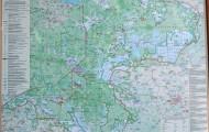 Mapa białoruskiej strony Puszczy Białowieskiej